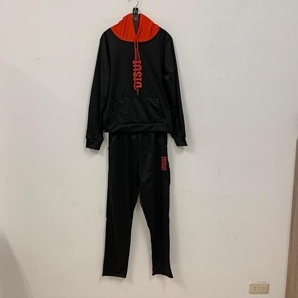 運動風連帽T桖長褲兩件式套裝(XL號/121-7598)