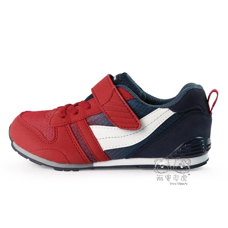 日本月星 MoonStar 紅藍 CR HI運動鞋 魔鬼氈 中童鞋 NO.R5773