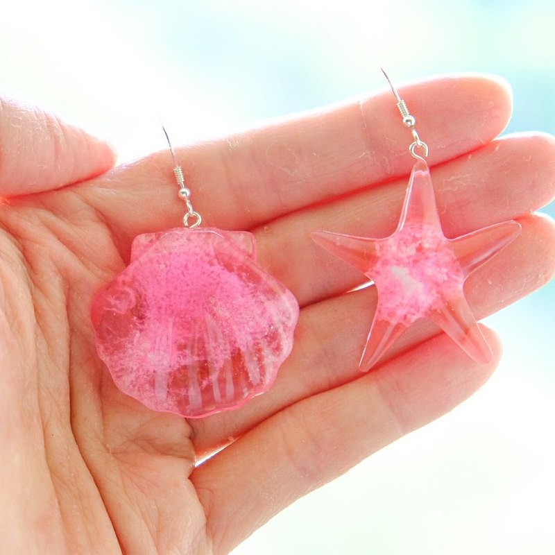 【珊瑚海】Coral Sea Ear Rings / Ear Clips by ETPLANT