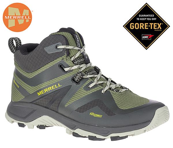 丹大戶外【MERRELL】美國 男款MQM FLEX 2 MID GTX 防水透氣健行登山鞋 橄欖綠 ML033733