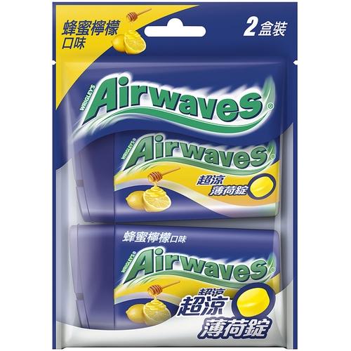 Airwaves 超涼薄荷錠2入裝-48.5g(蜂蜜檸檬)[大買家]