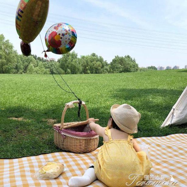 野餐墊-風北歐戶外可機洗野餐墊加厚折疊便攜防水野餐布野炊防潮墊全館折扣限時促銷
