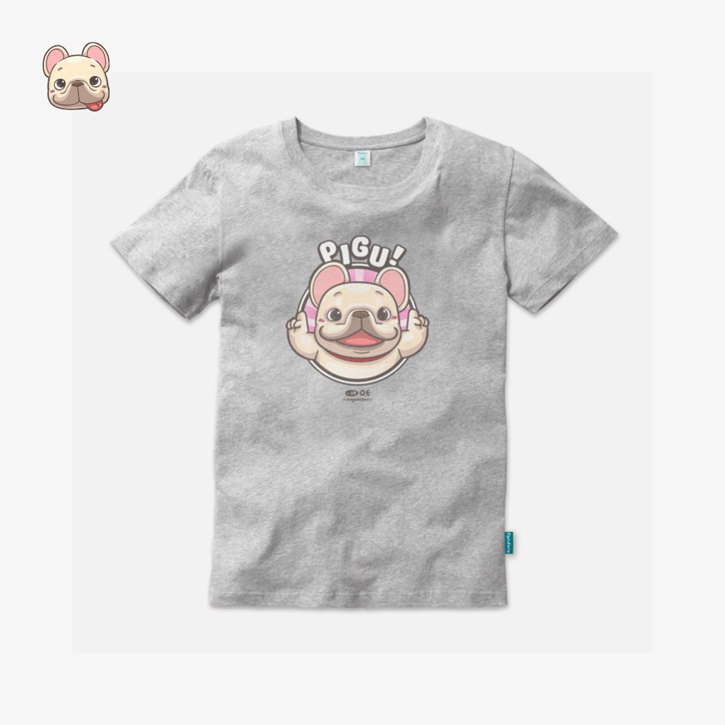 一神家族-皮古款麻灰T恤