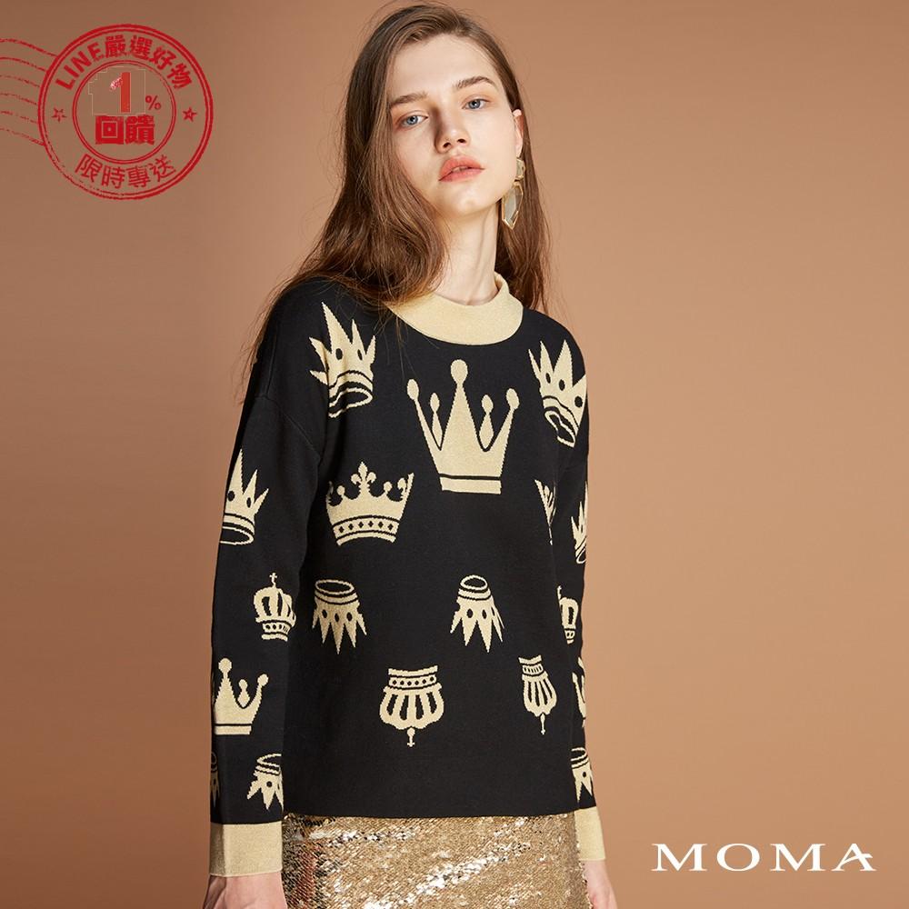 MOMA(92KM86)金蔥皇冠針織上衣