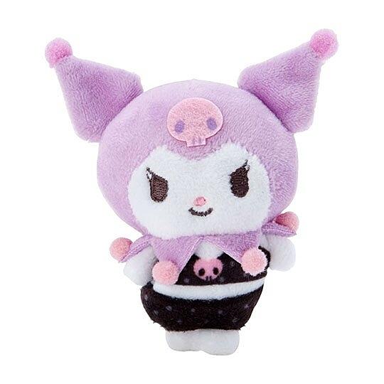 小禮堂 酷洛米 迷你換裝娃娃 絨毛玩偶 沙包娃娃 (紫黑 熱帶沙灘) 4550337-58853