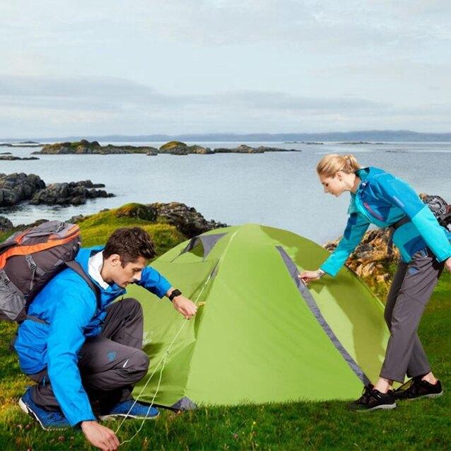 公狼帳篷戶外2人3-4雙人野營裝備鋁桿輕便防雨野外露營加厚防暴雨ATF極有家 清涼一夏钜惠
