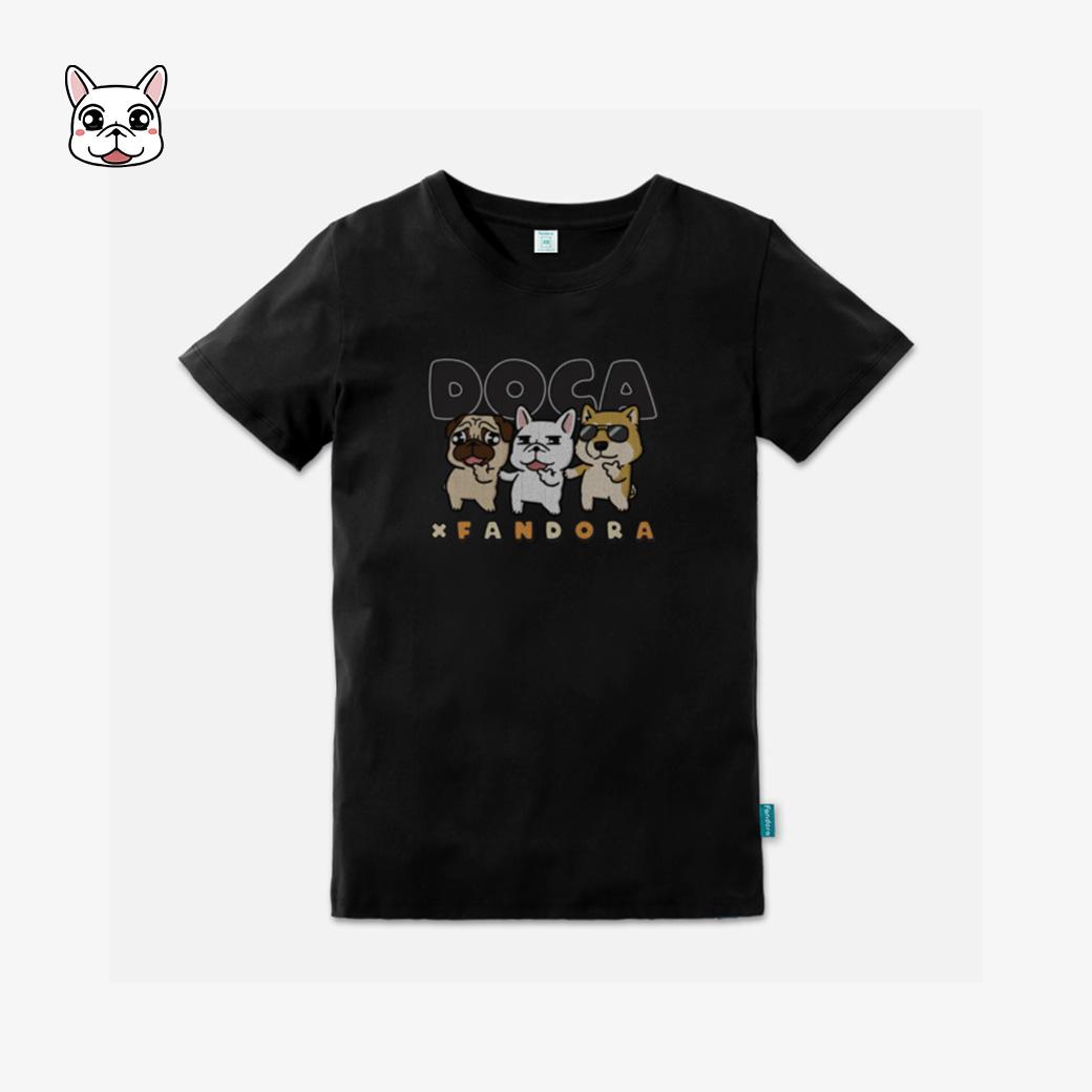豆卡頻道-角色集合款企鵝黑T恤