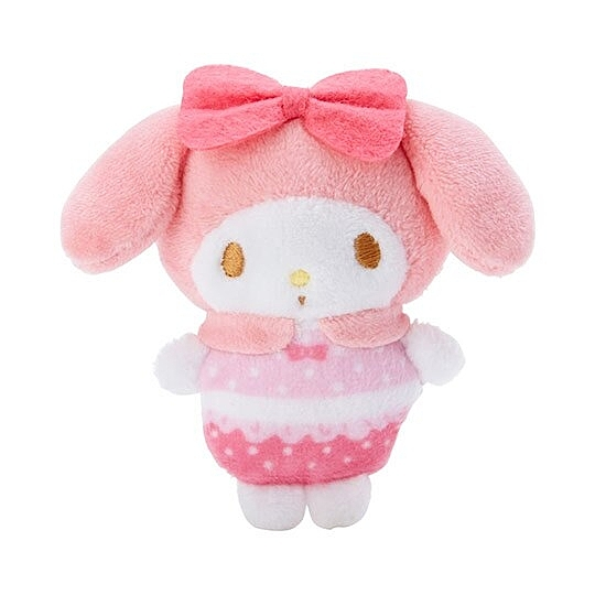 小禮堂 美樂蒂 迷你換裝娃娃 絨毛玩偶 沙包娃娃 (粉白 熱帶沙灘) 4550337-58850