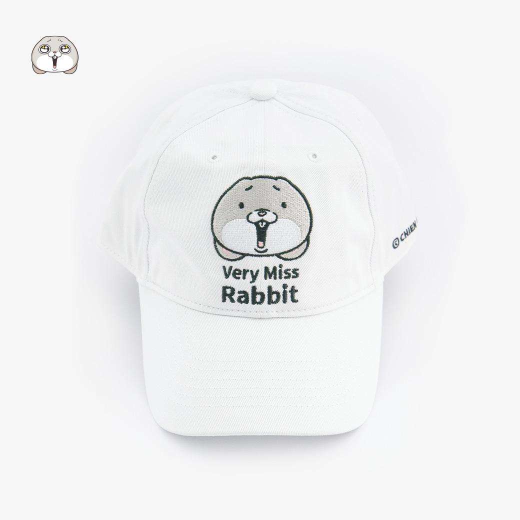 好想兔經典表情老帽-白色款
