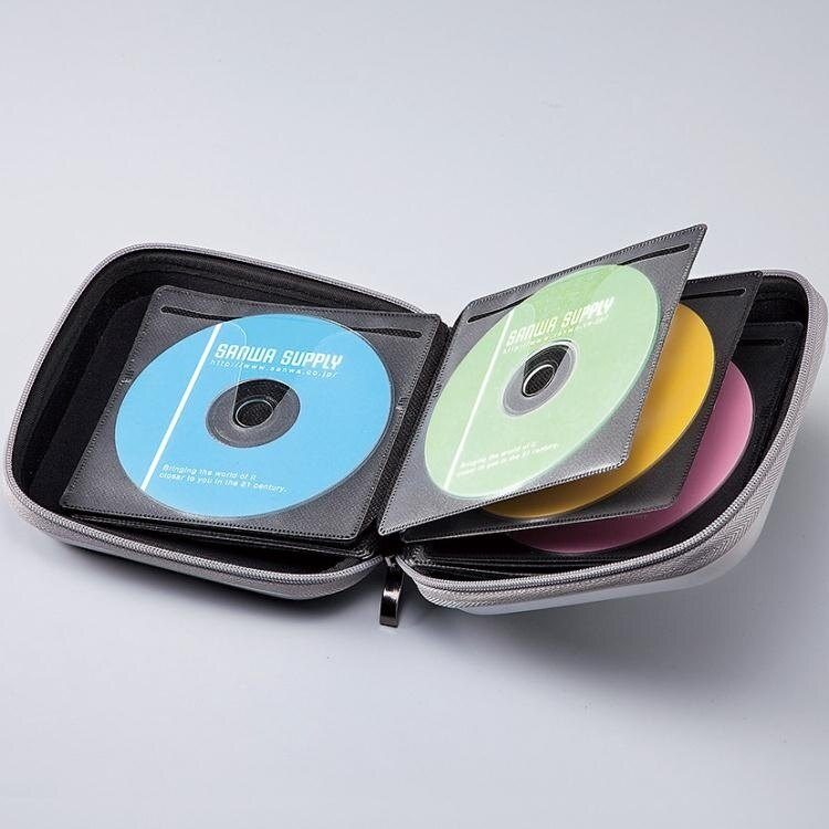 「樂天優選」CD收納盒日本SANWA車載碟片包藍光CD盒光盤包 光碟包收納24/36/48/104/160