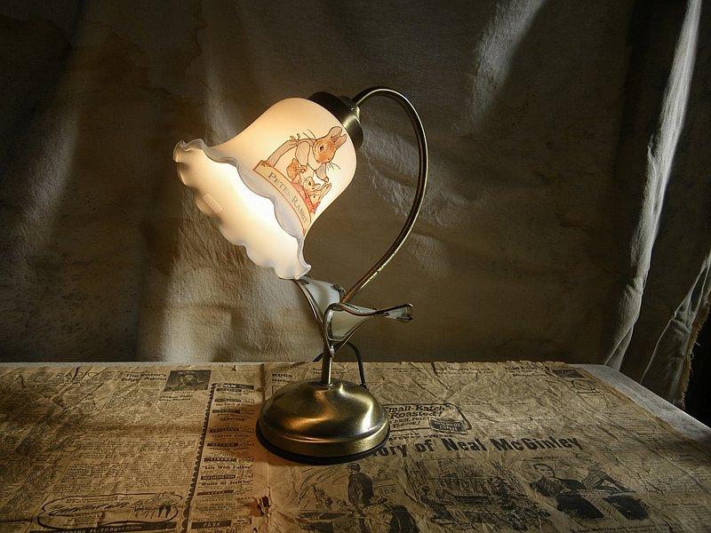 【老時光 OLD-TIME】早期台灣製玻璃桌燈