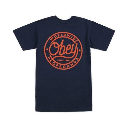 Obey Since 1989 T恤 (深藍)《Jimi Skate Shop》