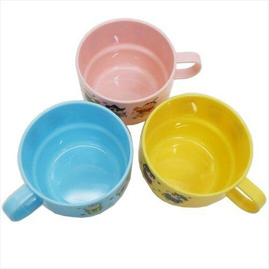 【領券折$30】小禮堂 蠟筆小新 單耳塑膠杯 兒童水杯 漱口杯 230ml (3入 黃藍 星星)
