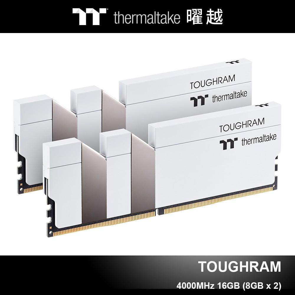 曜越 TOUGHRAM 鋼影 DDR4 4000MHz 16GB 記憶體 (8GBx2) 白色