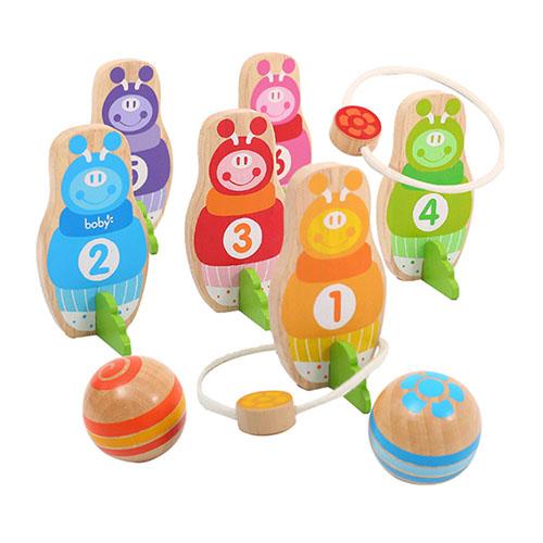 經典木玩  boby兒童歡樂二合一保齡球組(兒童趣味玩具)(BB0810)