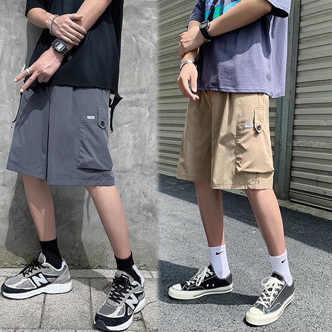 FOFU-短褲韓版港風休閒寬鬆工裝短褲【08B-G0922】