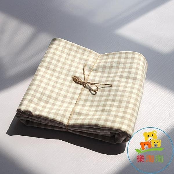 小清新日式棉麻桌布格子家用餐桌布藝茶幾書臺布北歐【樂淘淘】