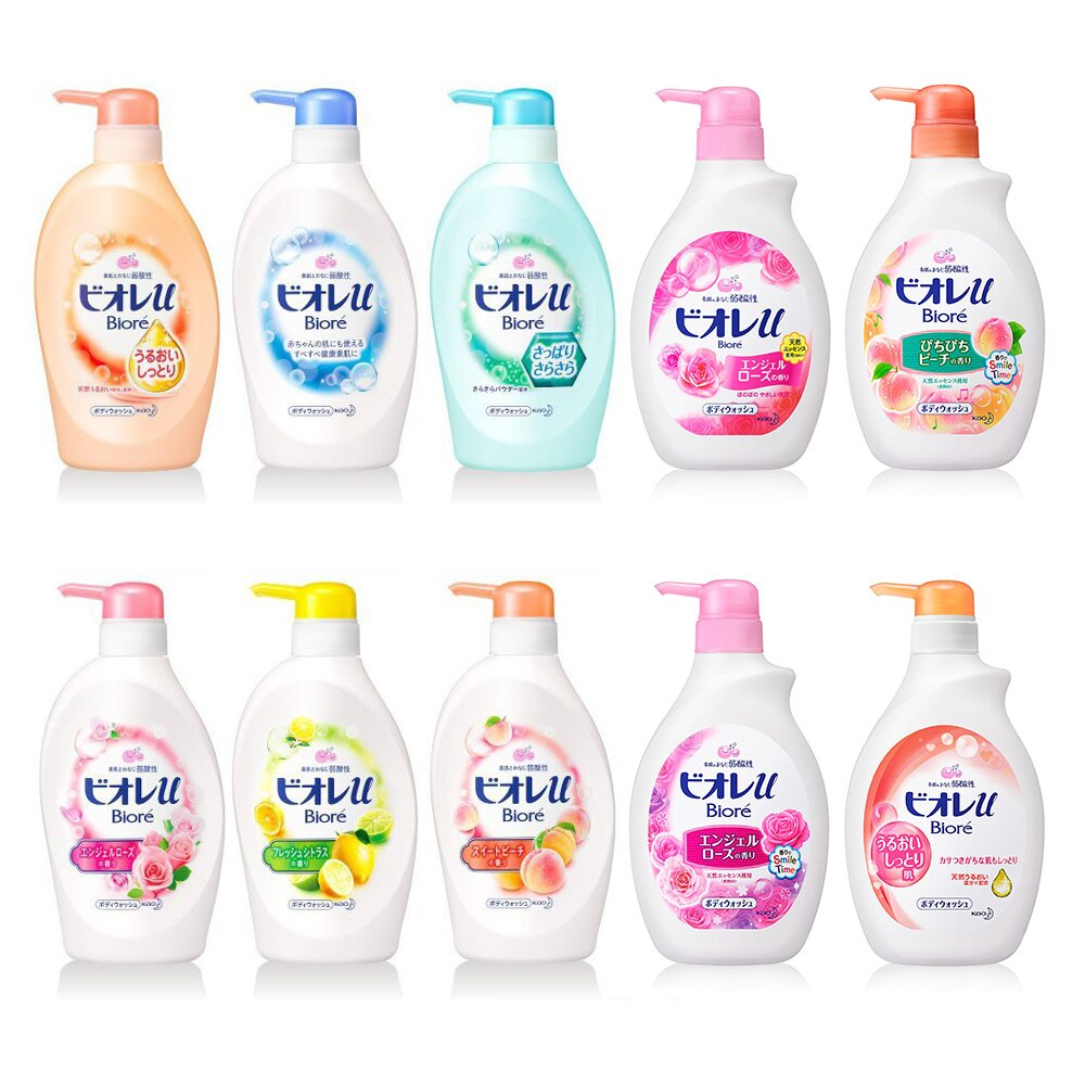 日本 境內版 Kao 花王 Biore 弱酸性 親膚鎖水&香氛親膚鎖水沐浴乳 沐浴泡 補充包
