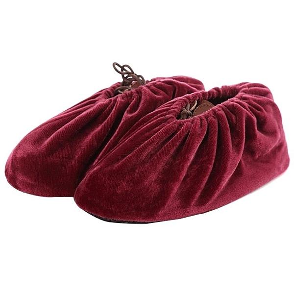 鞋套 絨布鞋套家用布可反復洗加厚防滑耐磨室內腳套學生機房樣板房防塵-快速出貨