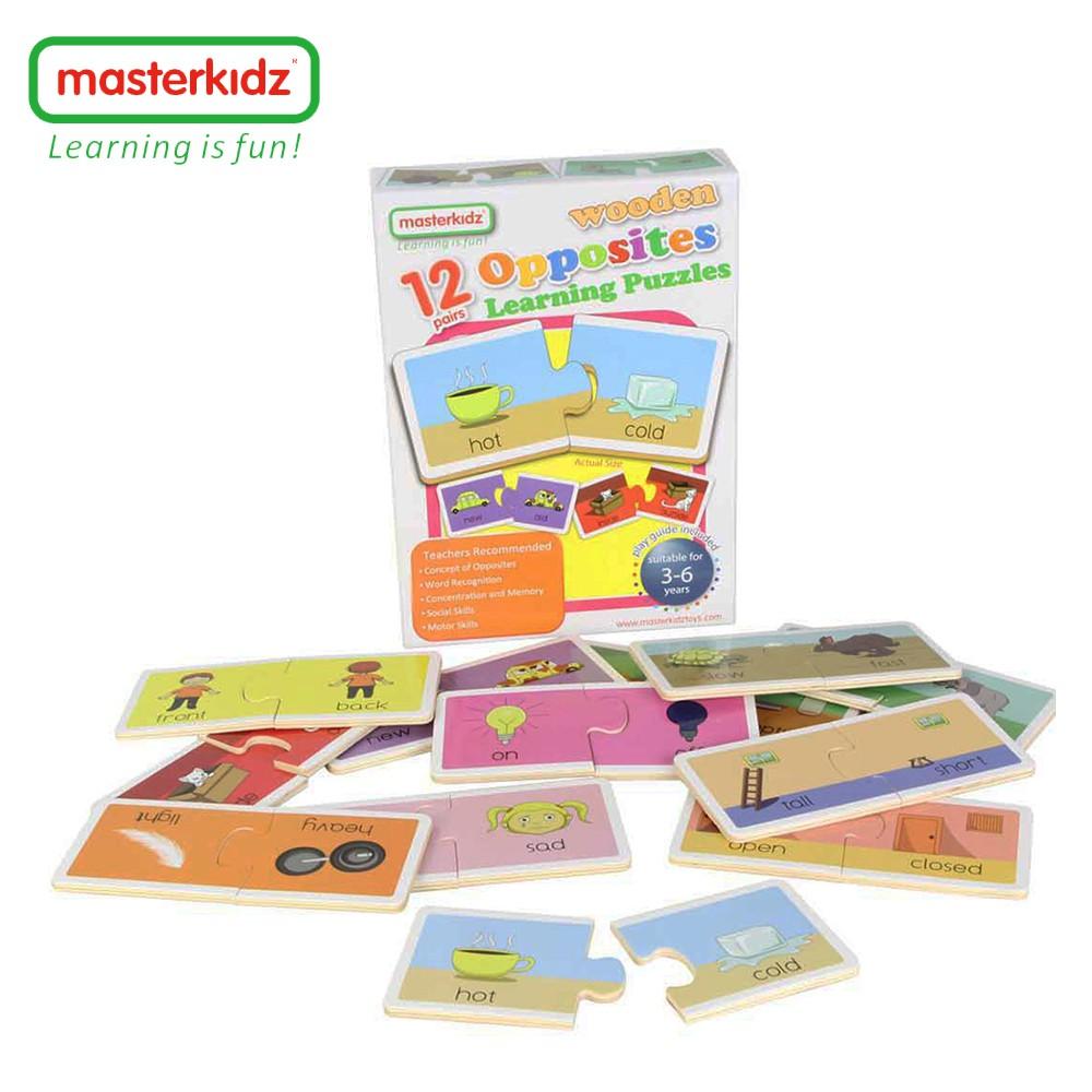 【英國Masterkidz】相反詞木製學習拼圖-盒裝