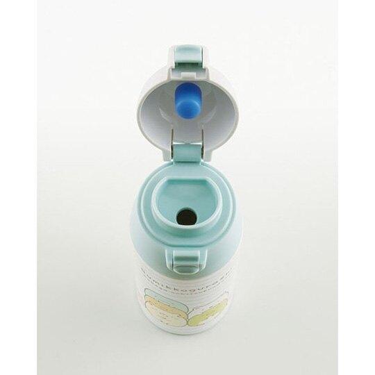 小禮堂 角落生物 彈蓋保溫瓶 兒童水壺 隨身水壺 超輕量不鏽鋼 360ml  (綠白 橫紋)
