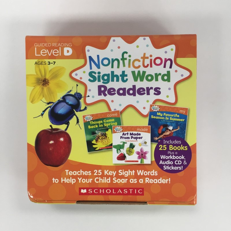 NONFICTION SIGHT WORD READERS LEVEL D W/ CD【英文進口讀本】 (精裝本)