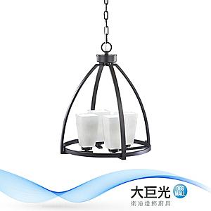 【大巨光】工業風4燈吊燈-E14-LED(CI-90571)