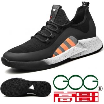 (杰恆)口2019春輕盈飛織系帶休閑鞋XC0519180增高6CM