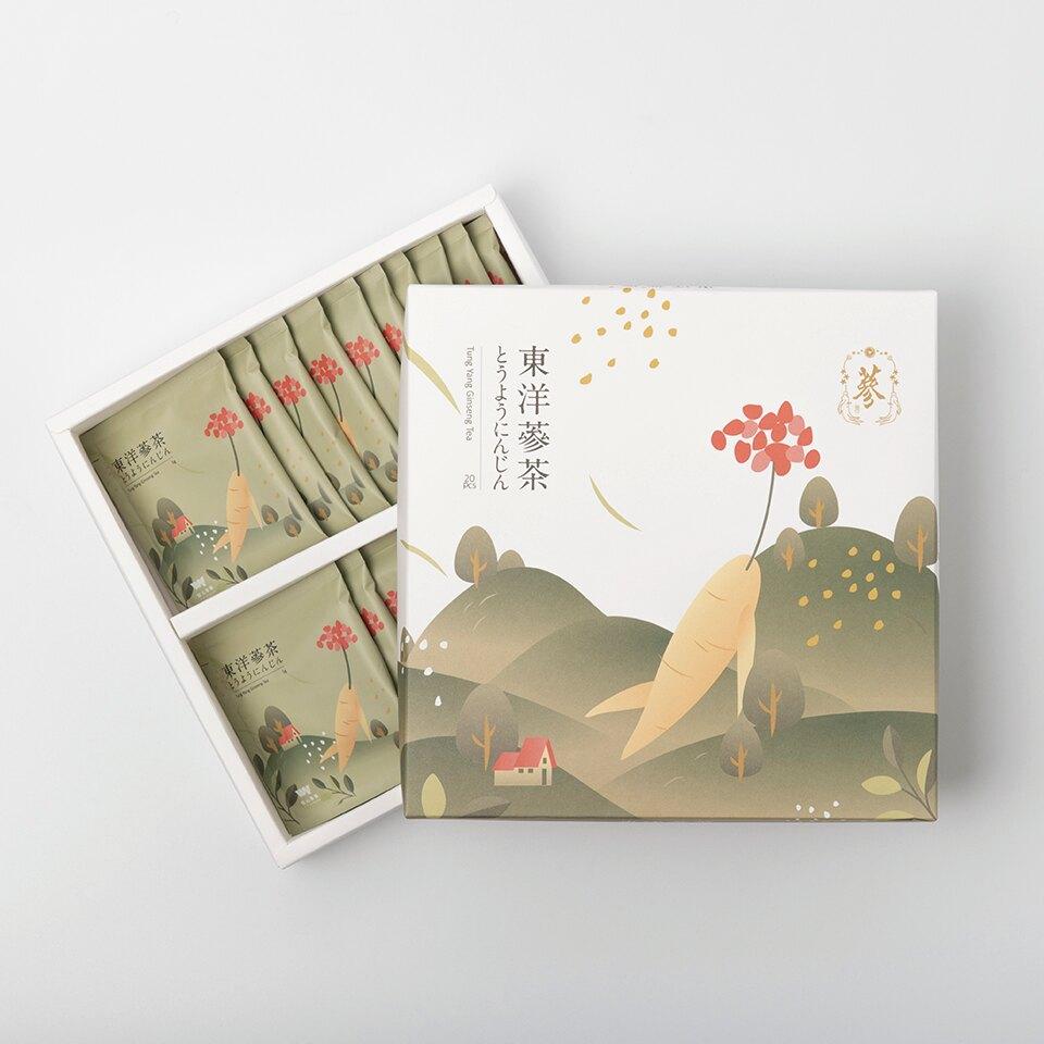 養氣人蔘茶 長白山東洋蔘 茶包禮盒 | 5g 20入禮盒
