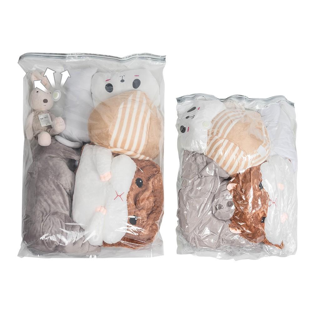 免抽氣壓縮袋 3D立體壓縮收納袋 真空壓縮袋 旅行收納 棉被收納 衣物收納 免抽氣筒 真空收納袋【CC-I047】