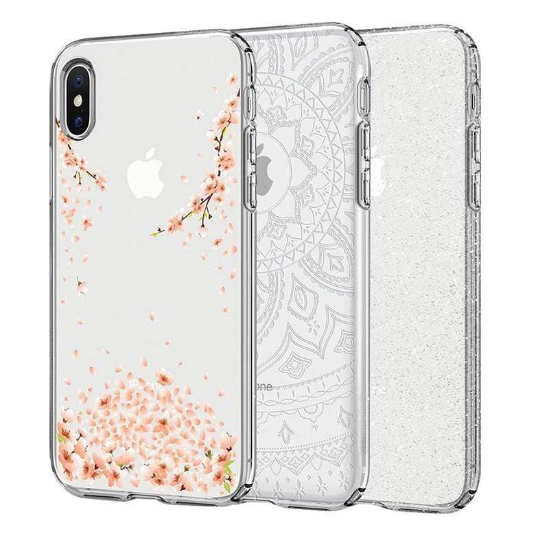iPhone X Liquid Crystal-超輕薄型彈性保護殼(花漾款) 花漾水晶
