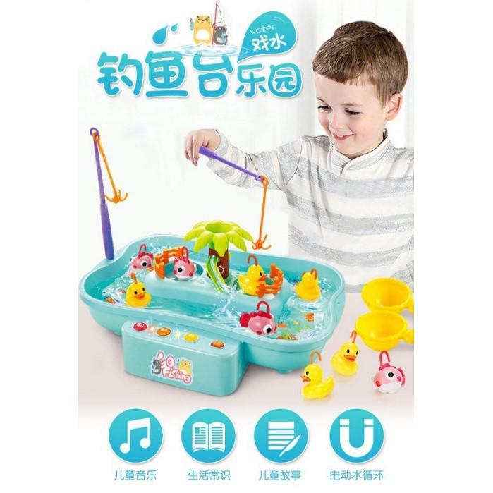 兒童 燈光 電動釣魚玩具 釣魚台 音樂 益智玩具cf138285