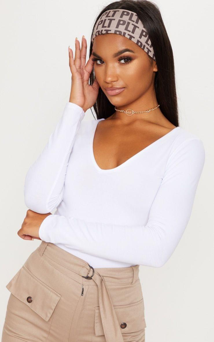 Basic White Longline Long Sleeve Top
