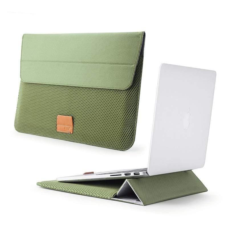 "MacBook Pro 16""/15"" 立架筆電包/電腦包-ARIA 蕨綠 / ARIA Stand Sleeve for MacBook Pro 16""/15"" FERN GREEN ( 蕨綠)"