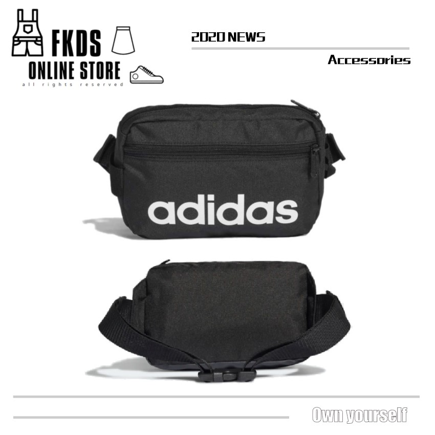 Adidas 愛迪達 LIN CORE WAISTB 經典書寫 Logo 中性 腰包 DT4827