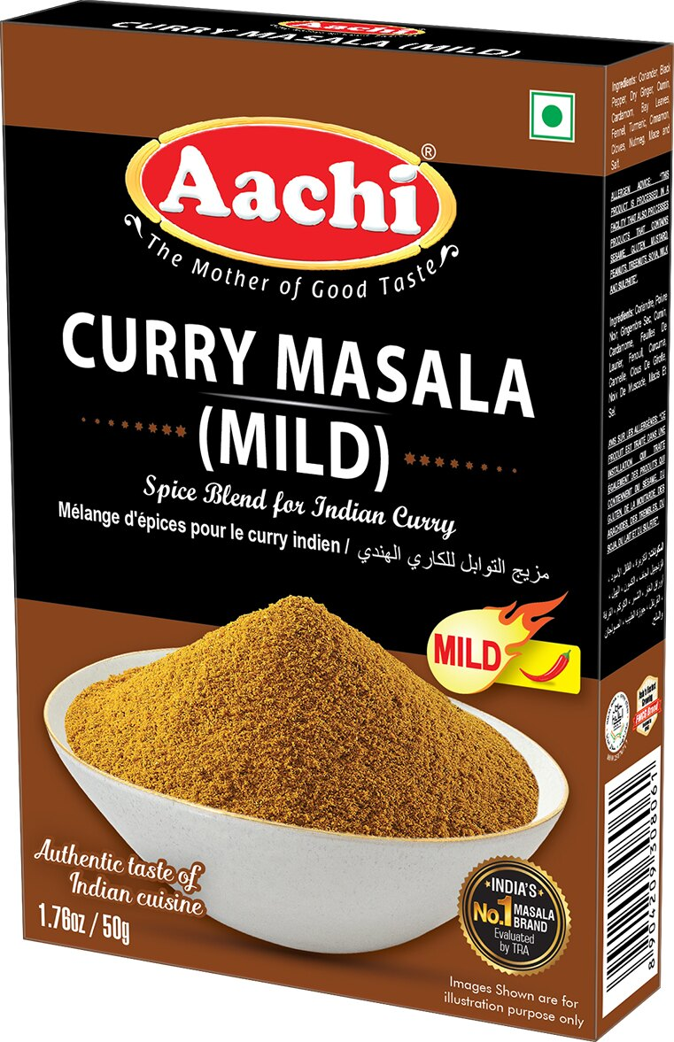 原味咖哩粉 (微辣)  Curry Masala (Mild) AACHI 50gm