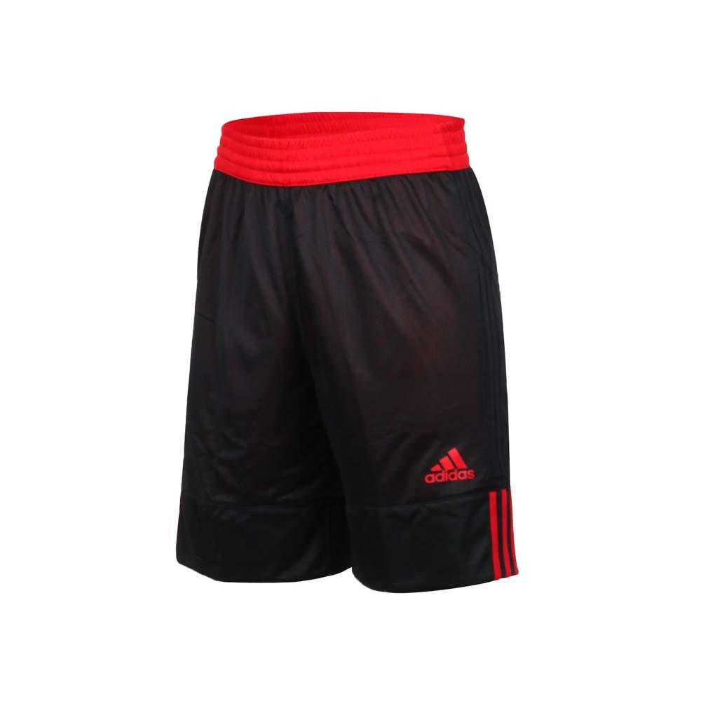 ADIDAS 男雙面籃球短褲-訓練 愛迪達 雙面球褲 運動短褲 五分褲 黑紅
