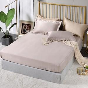 【Betrise擦肩而過】雙人-環保印染抗菌天絲素色三件式床包枕套組