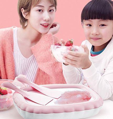 炒冰機炒酸奶機家用小型兒童雪糕冰淇淋機可捲迷你免插電網紅抖音炒冰機