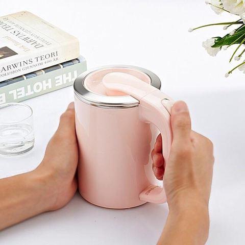 燒水壺旅行便攜迷你電水壺不銹鋼燒水壺出國小電熱水壺雙層分體式0.5L