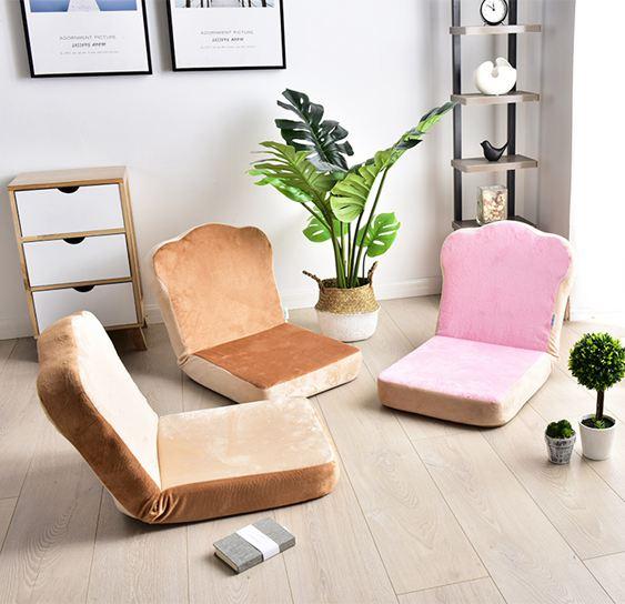 懶人沙發折疊小單人臥室陽臺飄窗靠背椅子女床上榻榻米款簡易