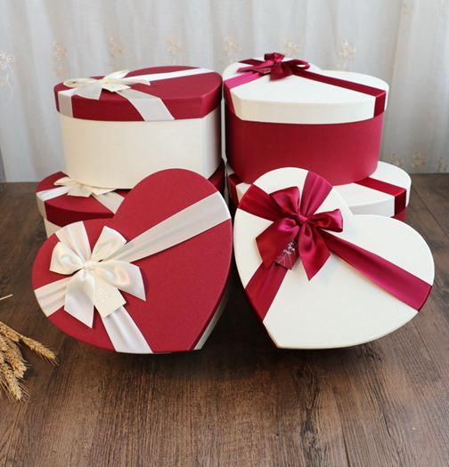高檔情人節超大號愛心形禮物盒千紙鶴禮盒衣服包裝盒鮮花盒