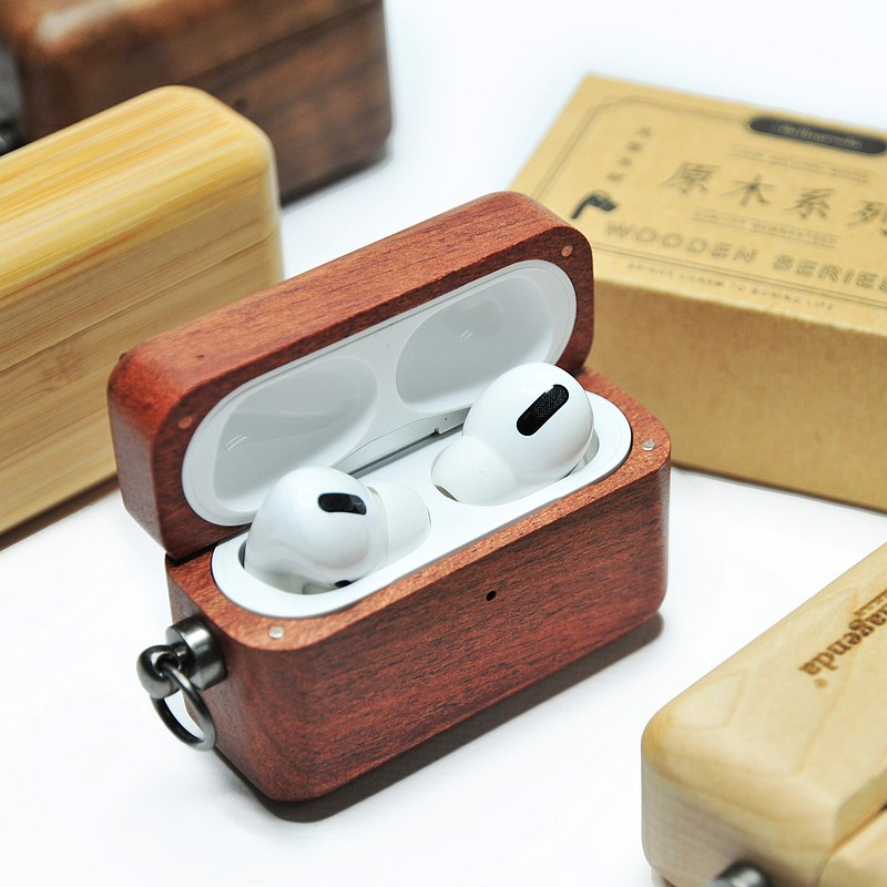 Bellagenda 原木 Airpods Pro 保護殼 客製 刻字 情人節禮物