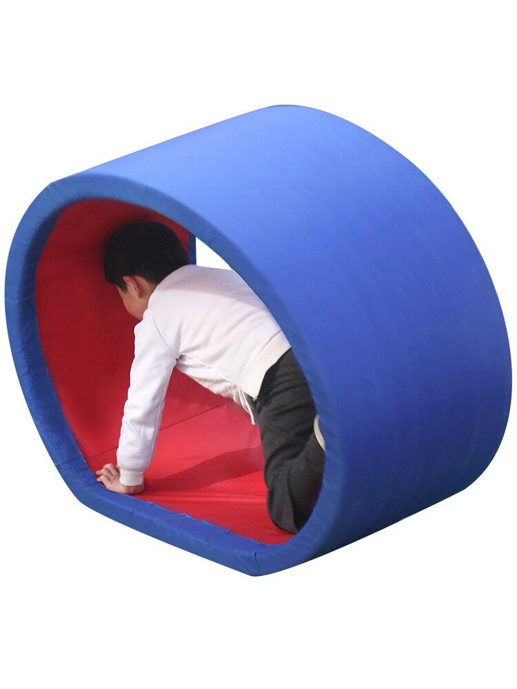 免運 感統訓練器材家用幼兒園戶外自制體育兒童趣味運動道具爬行圈玩具