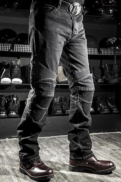 騎行褲 K牌機車賽車休閒直筒牛仔褲防摔褲越野摩托車騎行彈力褲男女 星河光年