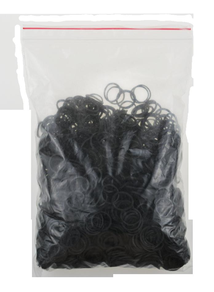 【捲尼_buying】美髮專用橡皮圈 黑 大包裝橡皮筋 綁頭髮 做造型 沙龍