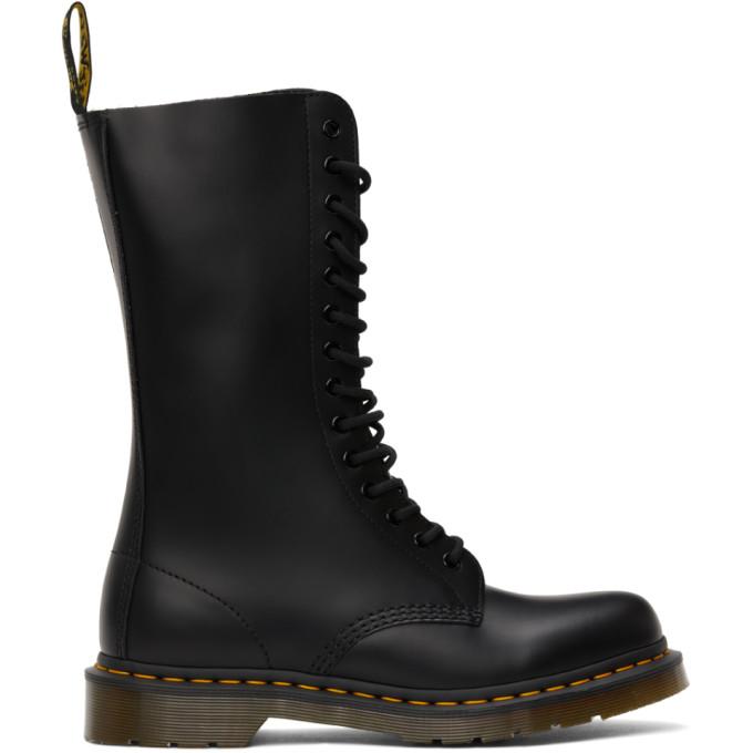 Dr. Martens 黑色 1914 Smooth 中筒靴