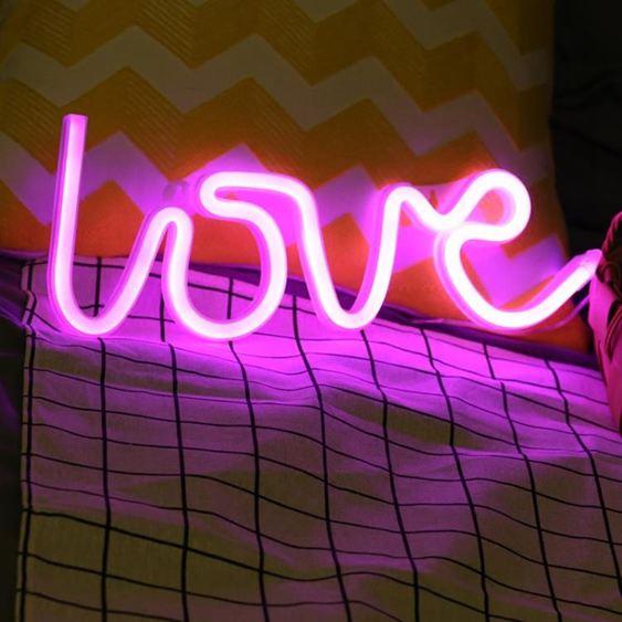 蘇彩星星月亮雲朵LOVE禮物情人節七夕創意造型彩燈