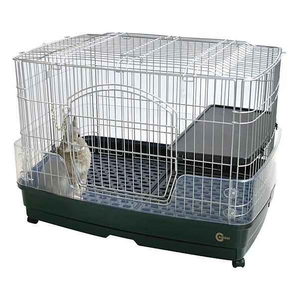 寵物家族-日本Marukan-愛兔舒適天井鼠兔籠MK-MR-306