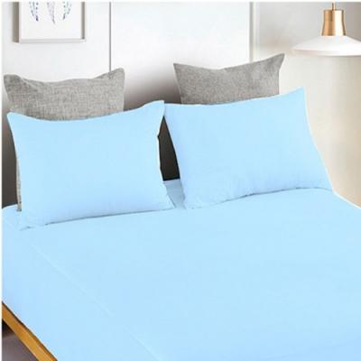 YCB護理級 100%防水防蟎抗菌床包式保潔墊 雙人-天空藍